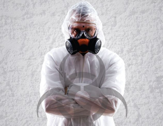 Service1st technician is prepared for bio-hazard services