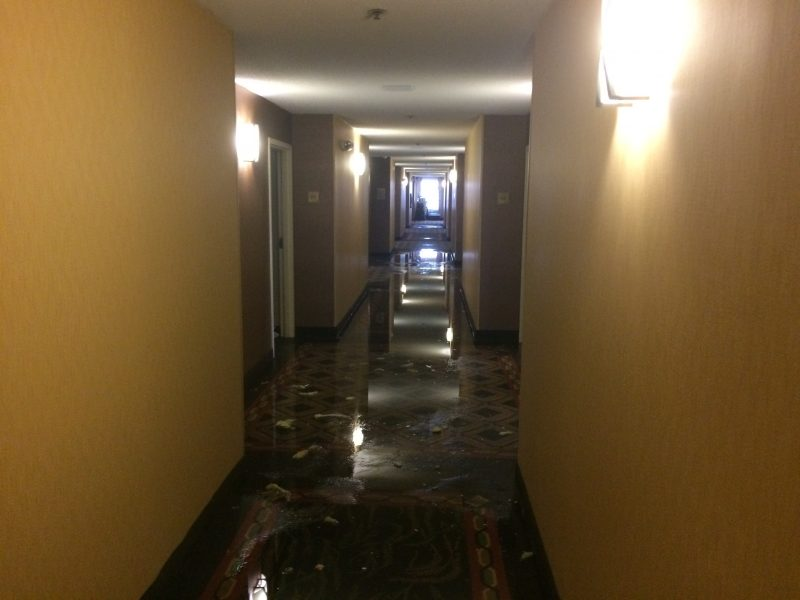 Service 1st client hotel, restoration of water damage